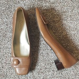 Talbots tan leather shoes - 8